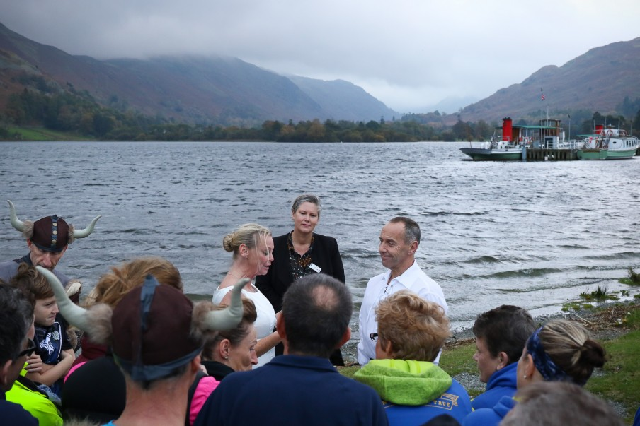 Wedding by lake Ullswater