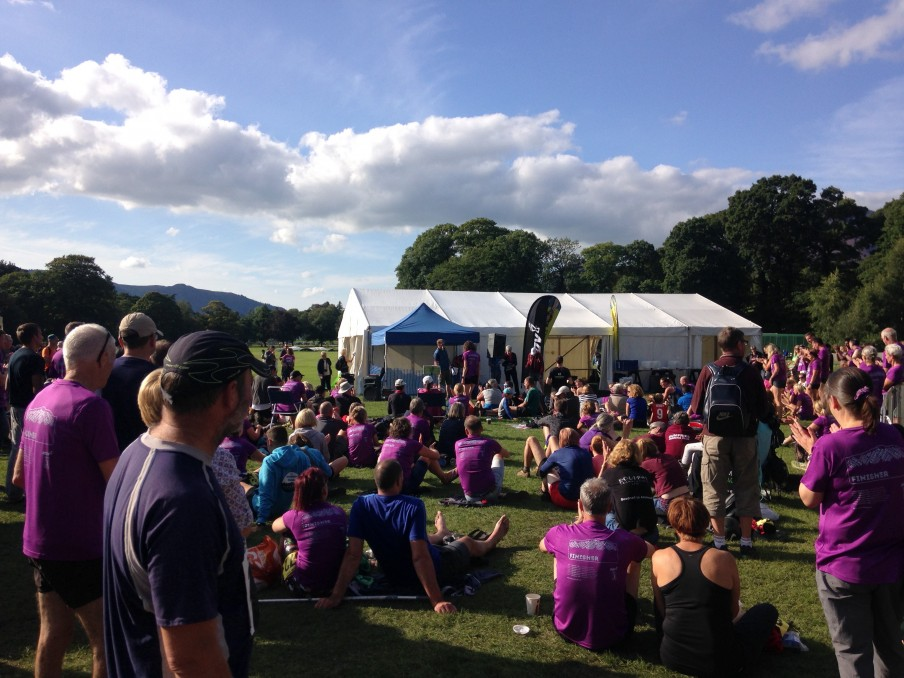 A sea of purple at the prize giving