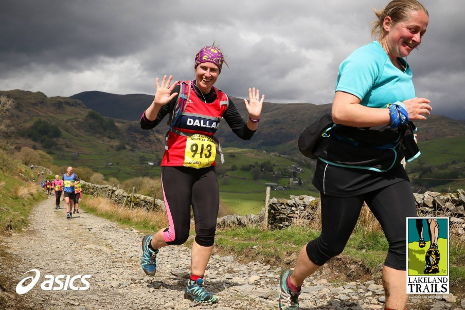Nicky running in the Lakeland Trails in Staveley