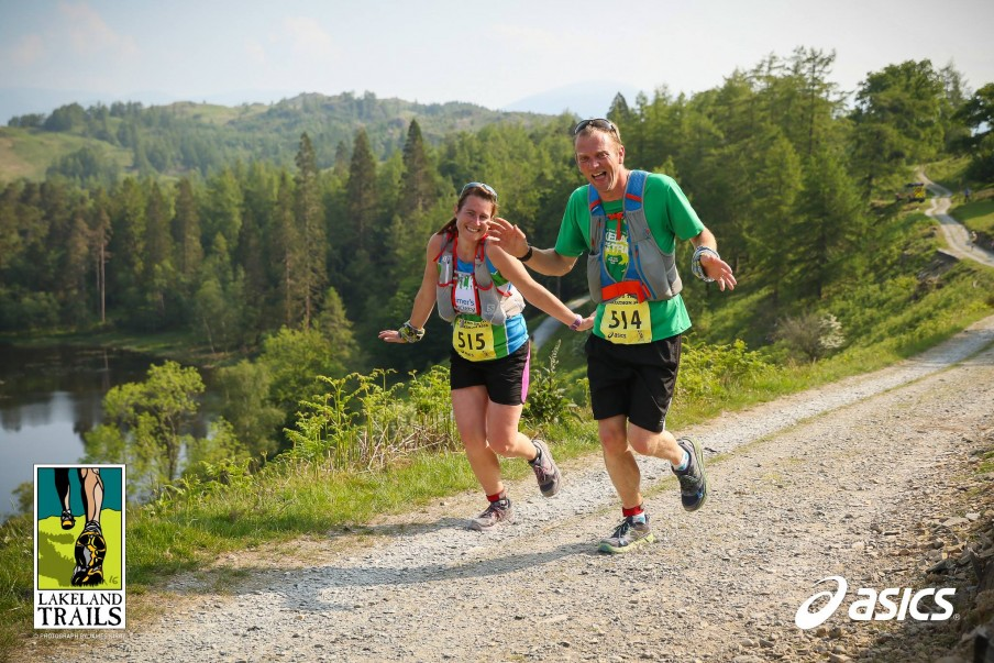 Running the Lakeland Trails Marathon with husband Chris